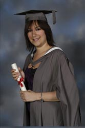 Picture of Sacha with Degree
